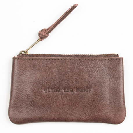 Leather pouch tinkerbell large Gimme the money