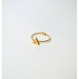 Ring Linde plated gold and silver