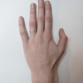 Ring Willow verguld goud en zilver