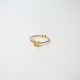 Ring Maple plated gold and silver