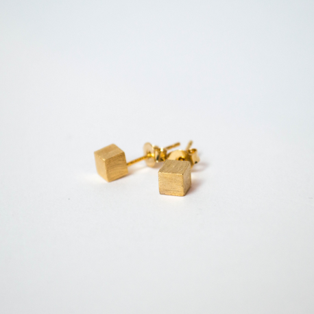 Stud Tulip gold plated