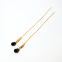 Earring Dahlia gold plated