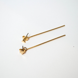 Earring Magnolia gold plated