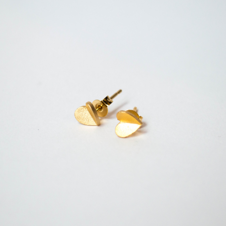 Stud Rose plated gold or silver