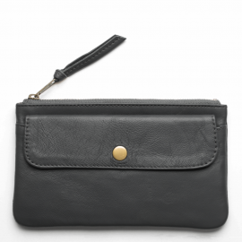 Leather wallet Pocket large
