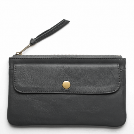 Leren portemonnee Pocket large