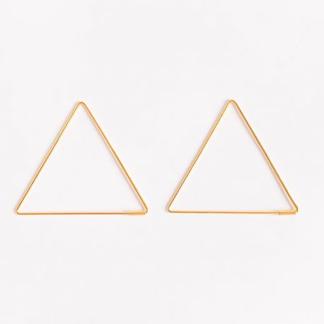 Earring Gerbera triangle gold plated or silver