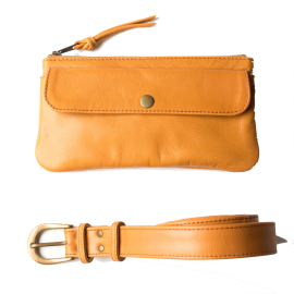 Leather waist bag Pocket