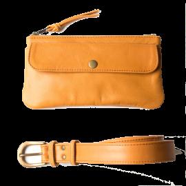 Leather bum bag Pocket