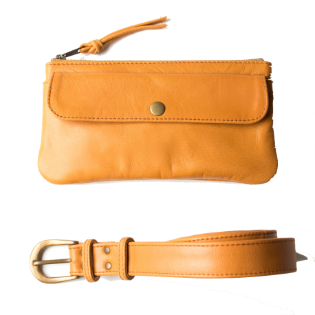 Leather waist bag Pocket