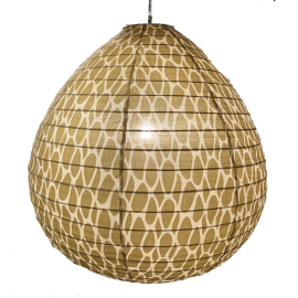 Cotton lamp shade Leo yellow