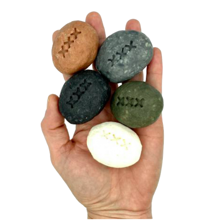 Small handmade rock hand soap