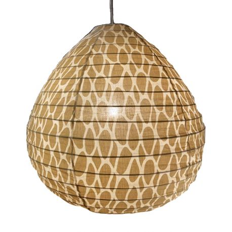 The cotton lampshade Leo yellow M