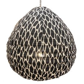 The cotton lampshade Leo  black M
