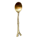 Brass spoon with twig handle