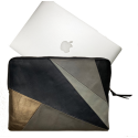Leather laptop sleeve Lucas patchwork natural for the Apple 13 inch