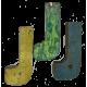Houten letter J gemaakt van oude vissersbootjes