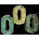 Houten letter O gemaakt van oude vissersbootjes