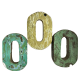 Wooden letter O made out of old fishing boats