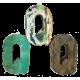 Houten letter Q gemaakt van oude vissersbootjes