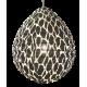 The cotton lamp shade Leo black S