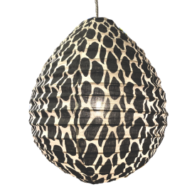 The cotton lamp shade Leo black S