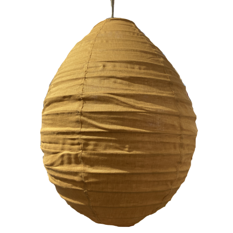 The linen lampshade Liv caramel S