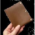Leather handmade wallet Lef