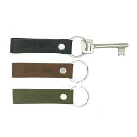 Leather key hanger Misty LOVE YOU
