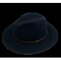 Black 100% woolen hat Bonnie