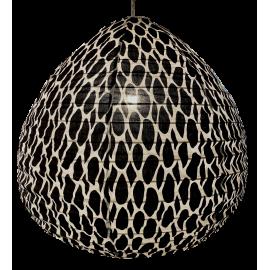 The cotton lampshade Leo black L