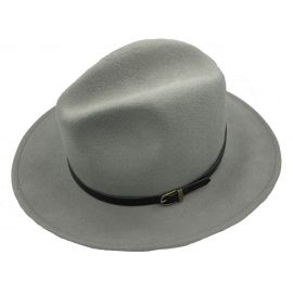 Grey 100 % woolen hat Bo