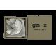 Rhodium oorbellen Fannie