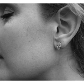 Rodium earrings Jesse