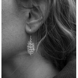 Silver earrings Leila