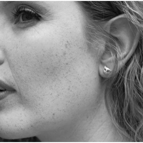 Rodium earrings Irena