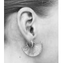 Rhodium earrings Fannie