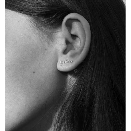 Rodium earrings Lisan