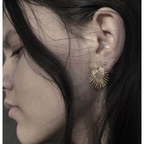 Brass earrings Milou