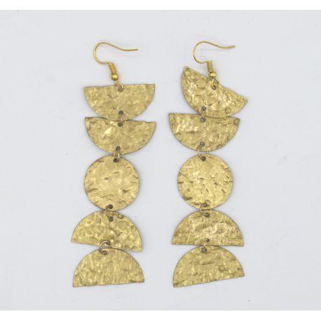 Copper earrings Astrud