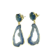 Earrings Pilar with turquoise and blue quartz