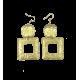 Brass earrings Laura