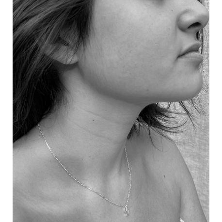 Rodium necklace Sterre