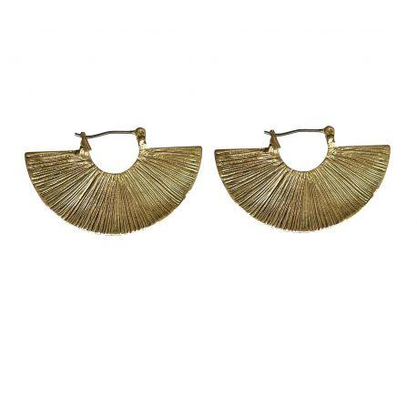 Brass earrings Fannie