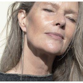 Silver earrings Bente