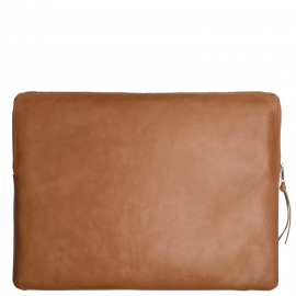 Leather laptop sleeve Apple 12 inch