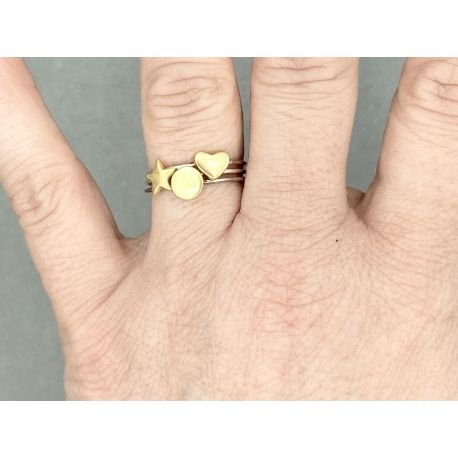 Gold plated ring Lieve