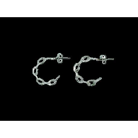 Rodium earrings Risa