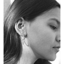 Rodium earrings Kris