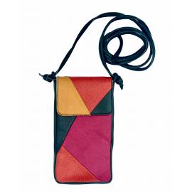 Leren iPhone tas Nigela patchwork voor de iPhone of Samsung Galaxy